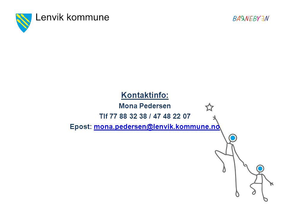 Epost: mona.pedersen@lenvik.kommune.no
