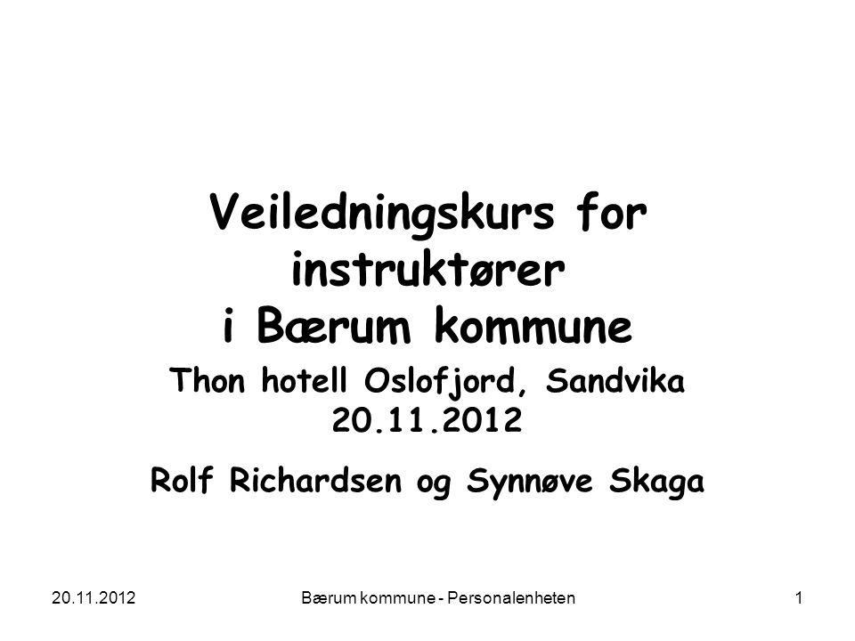 Veiledningskurs for instruktører i Bærum kommune