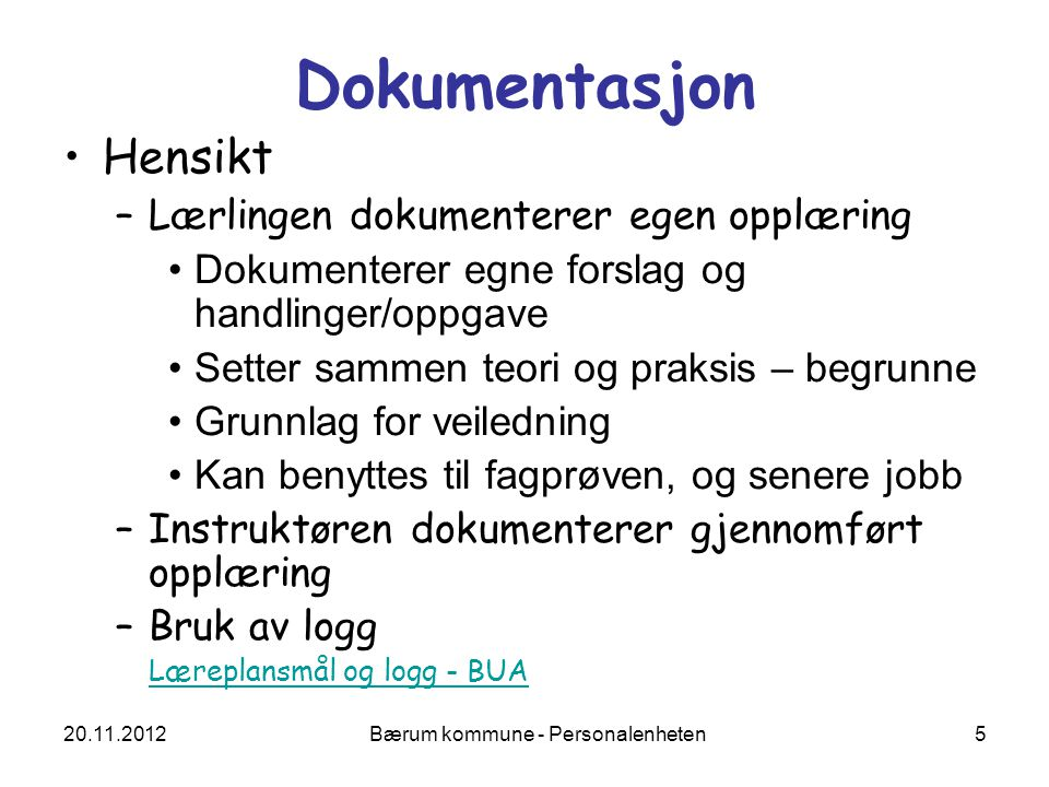 Bærum kommune - Personalenheten