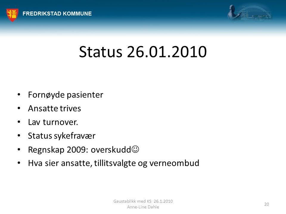 Gaustablikk med KS 26.1.2010 Anne-Line Dahle