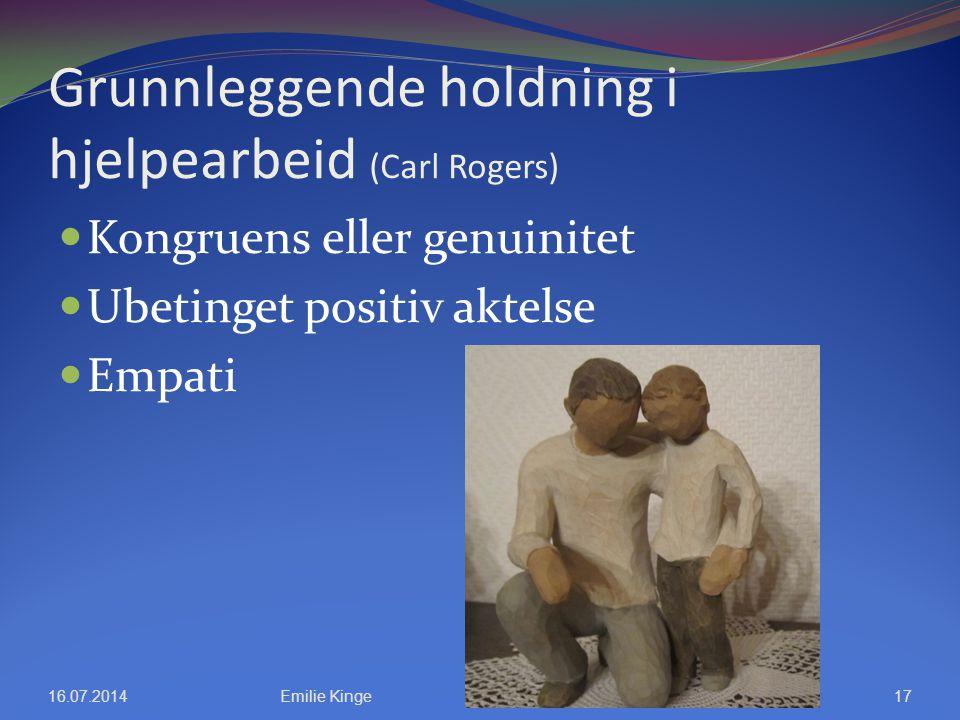 Grunnleggende holdning i hjelpearbeid (Carl Rogers)