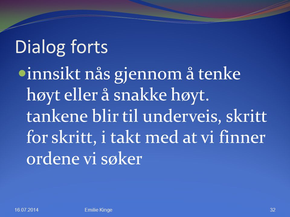 Dialog forts
