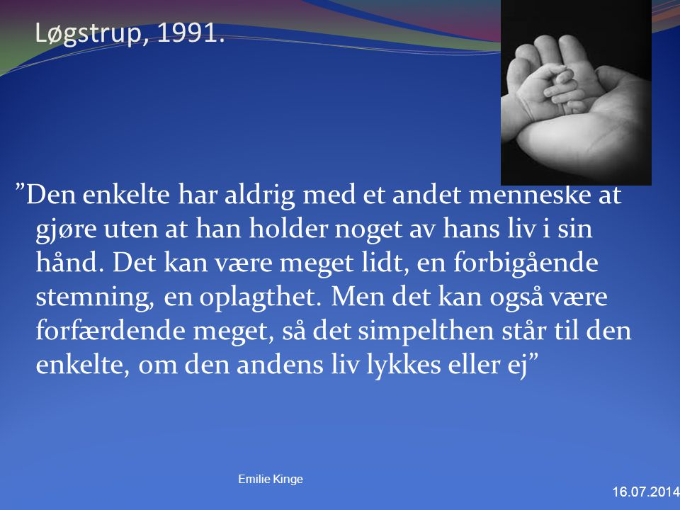 Løgstrup, 1991.