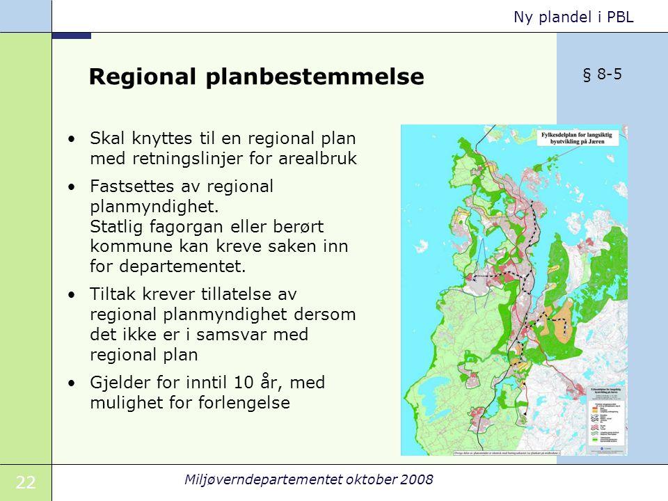 Regional planbestemmelse