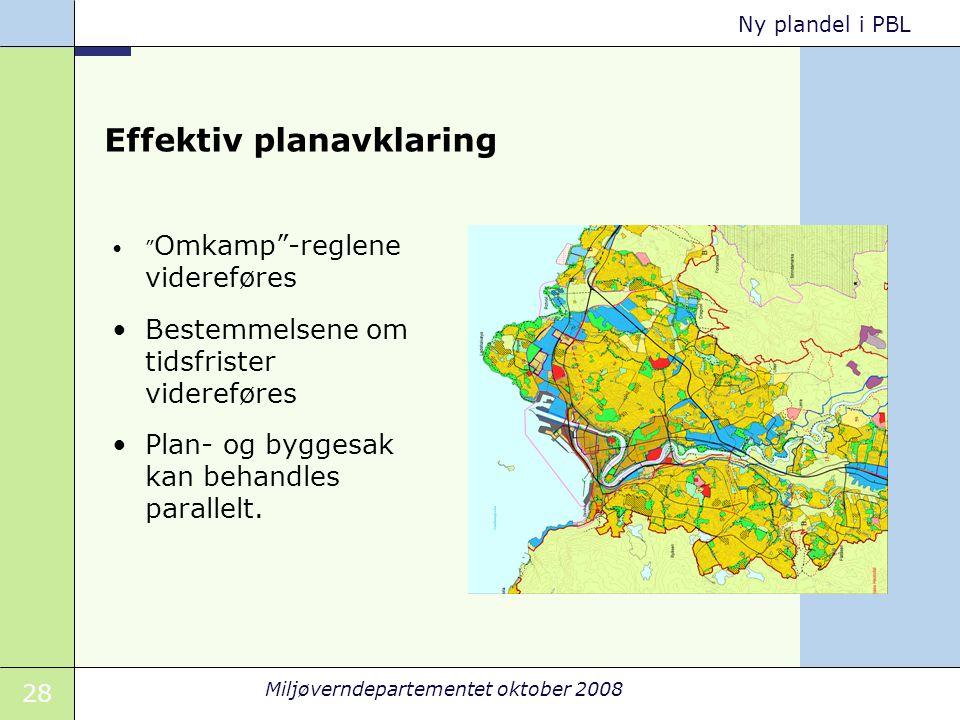 Effektiv planavklaring