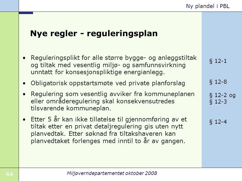 Nye regler - reguleringsplan