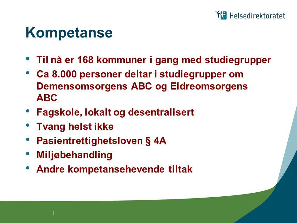 Kompetanse Til nå er 168 kommuner i gang med studiegrupper