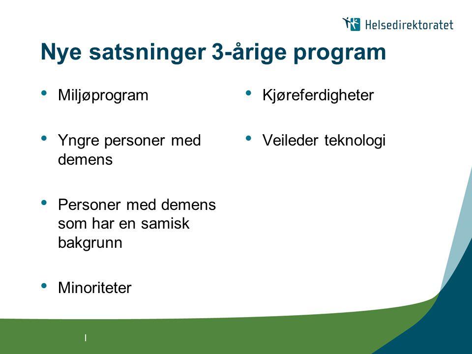 Nye satsninger 3-årige program
