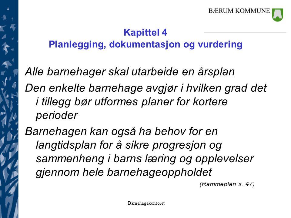 Kapittel 4 Planlegging, dokumentasjon og vurdering