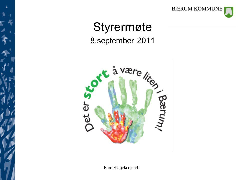 Styrermøte 8.september 2011