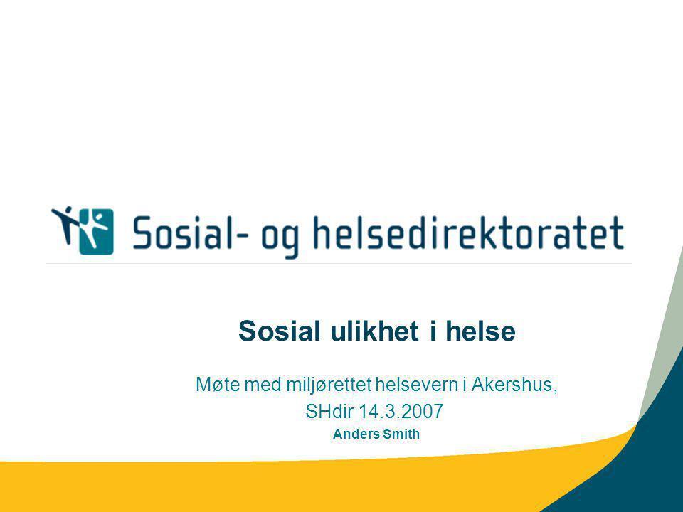 Møte med miljørettet helsevern i Akershus,