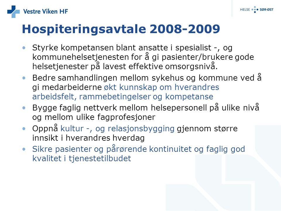 Hospiteringsavtale 2008-2009
