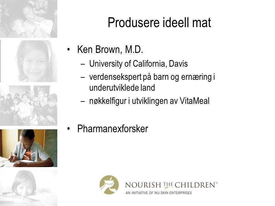 Produsere ideell mat Ken Brown, M.D. Pharmanexforsker