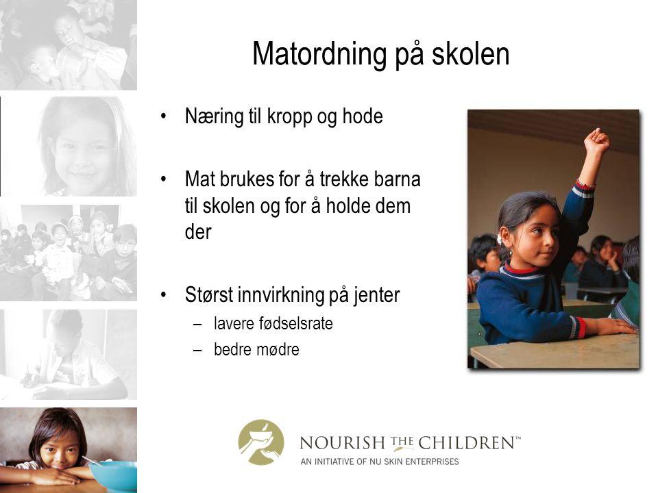 Matordning på skolen Næring til kropp og hode