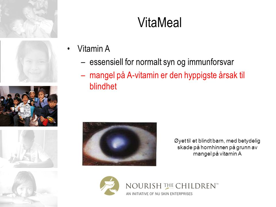 VitaMeal Vitamin A essensiell for normalt syn og immunforsvar