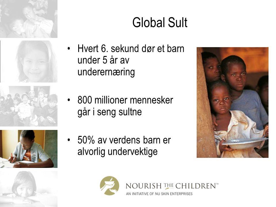Global Sult Hvert 6. sekund dør et barn under 5 år av underernæring