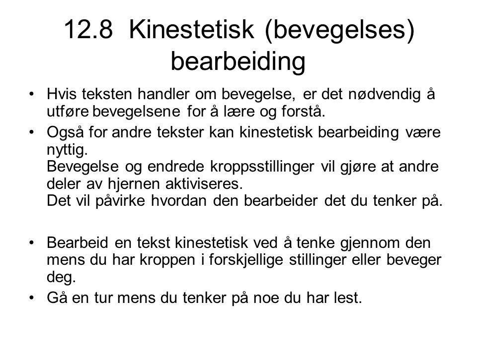 12.8 Kinestetisk (bevegelses) bearbeiding