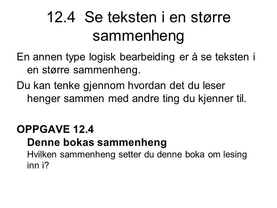 12.4 Se teksten i en større sammenheng