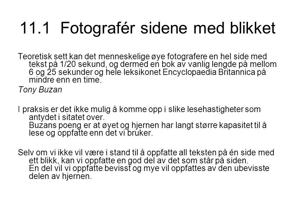 11.1 Fotografér sidene med blikket