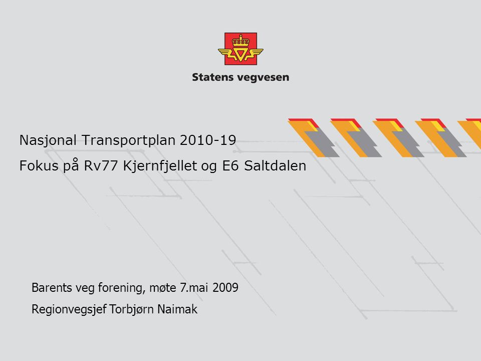 Nasjonal Transportplan 2010-19