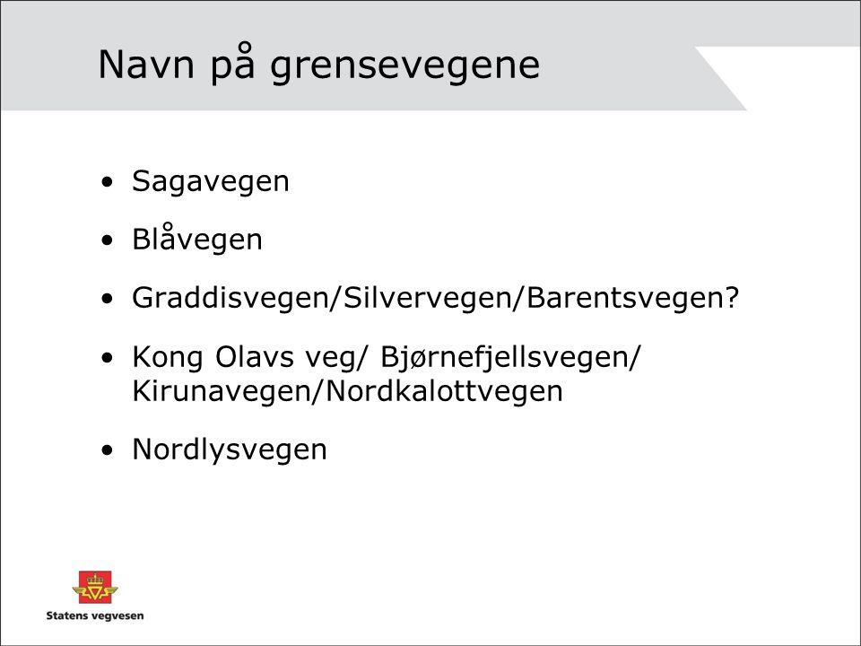 Navn på grensevegene Sagavegen Blåvegen