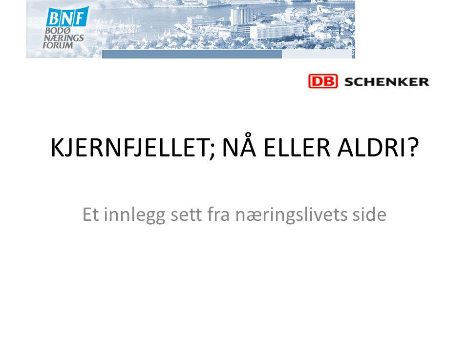 KJERNFJELLET; NÅ ELLER ALDRI
