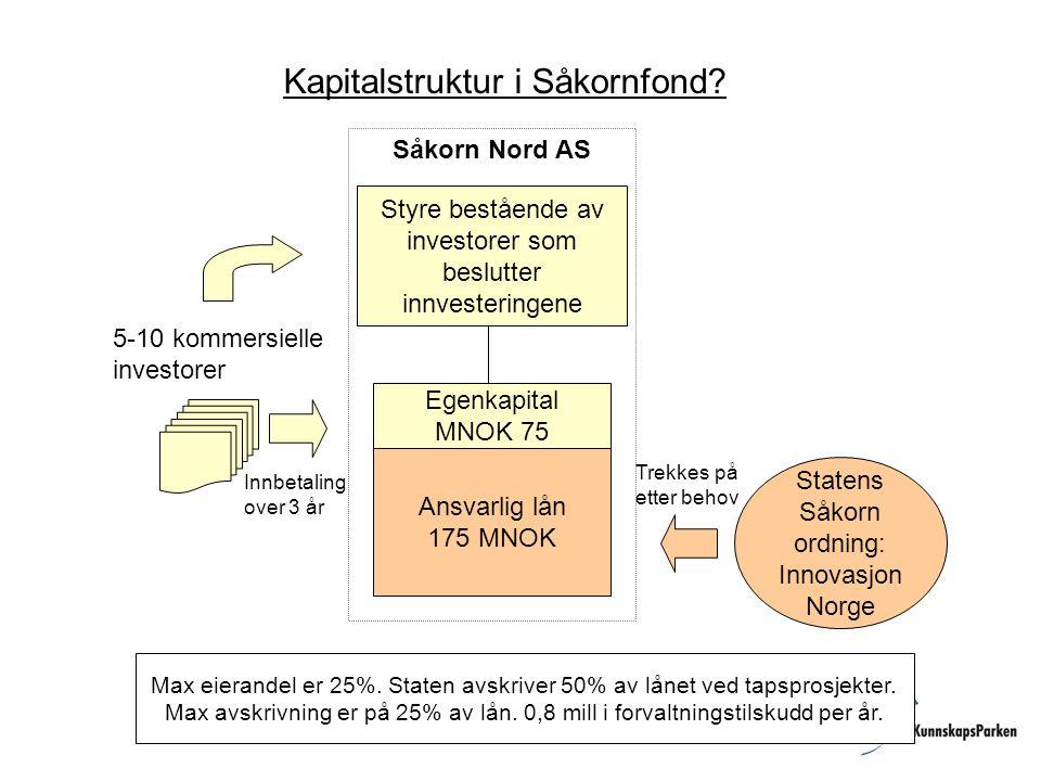 Kapitalstruktur i Såkornfond