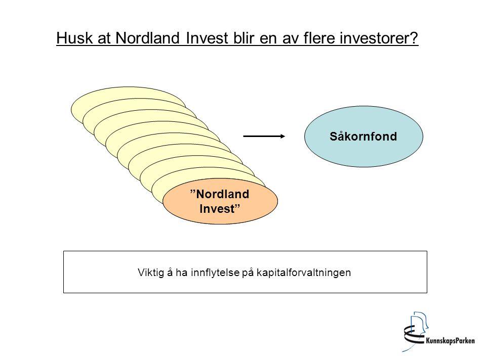 Husk at Nordland Invest blir en av flere investorer