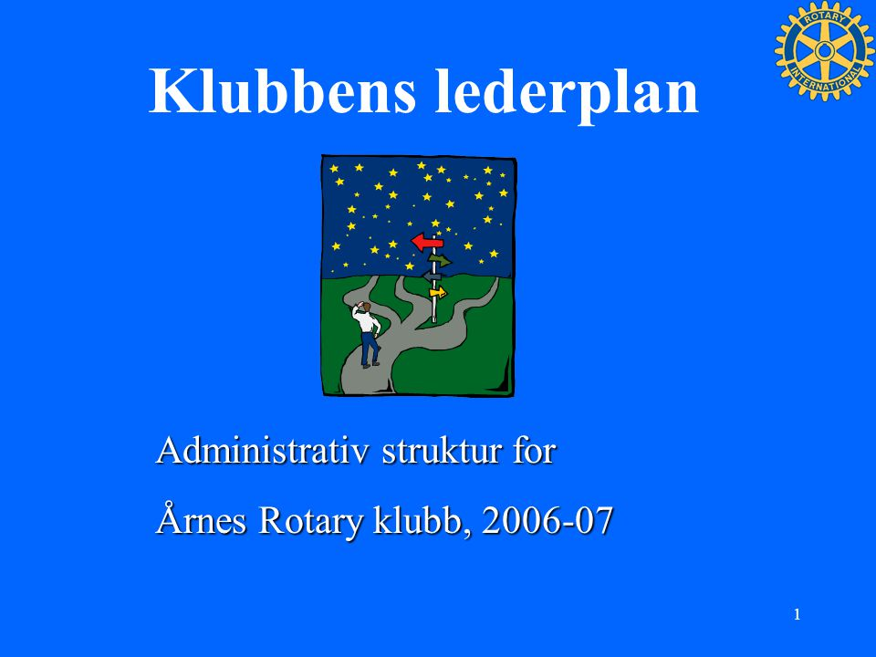 Klubbens lederplan Administrativ struktur for