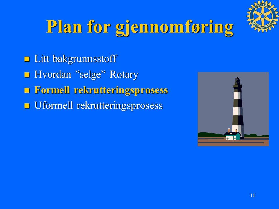 Plan for gjennomføring