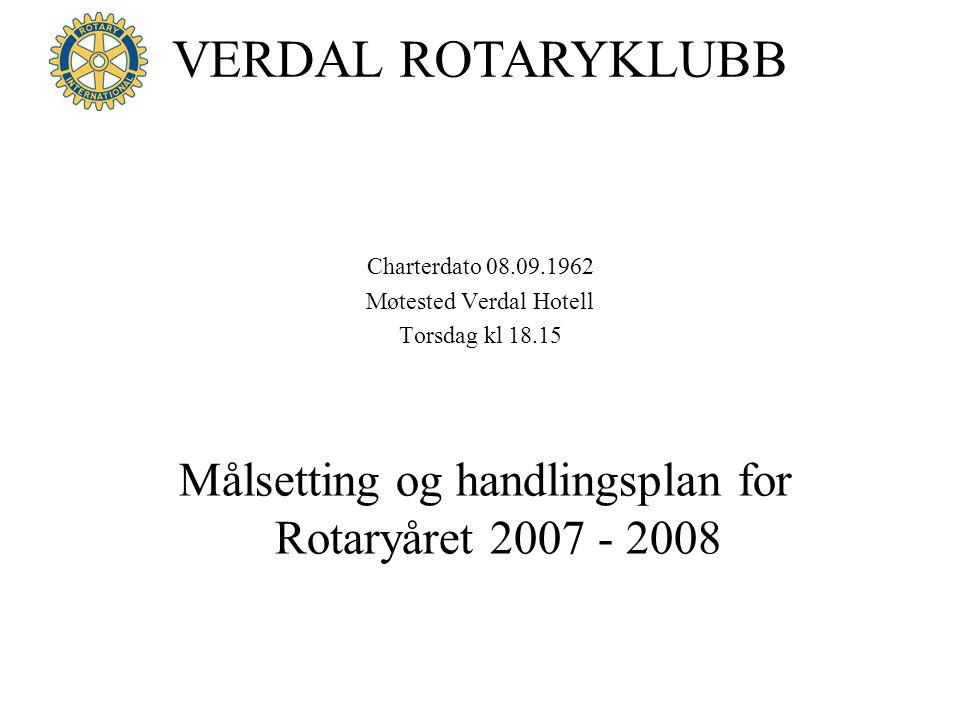 Målsetting og handlingsplan for Rotaryåret 2007 - 2008