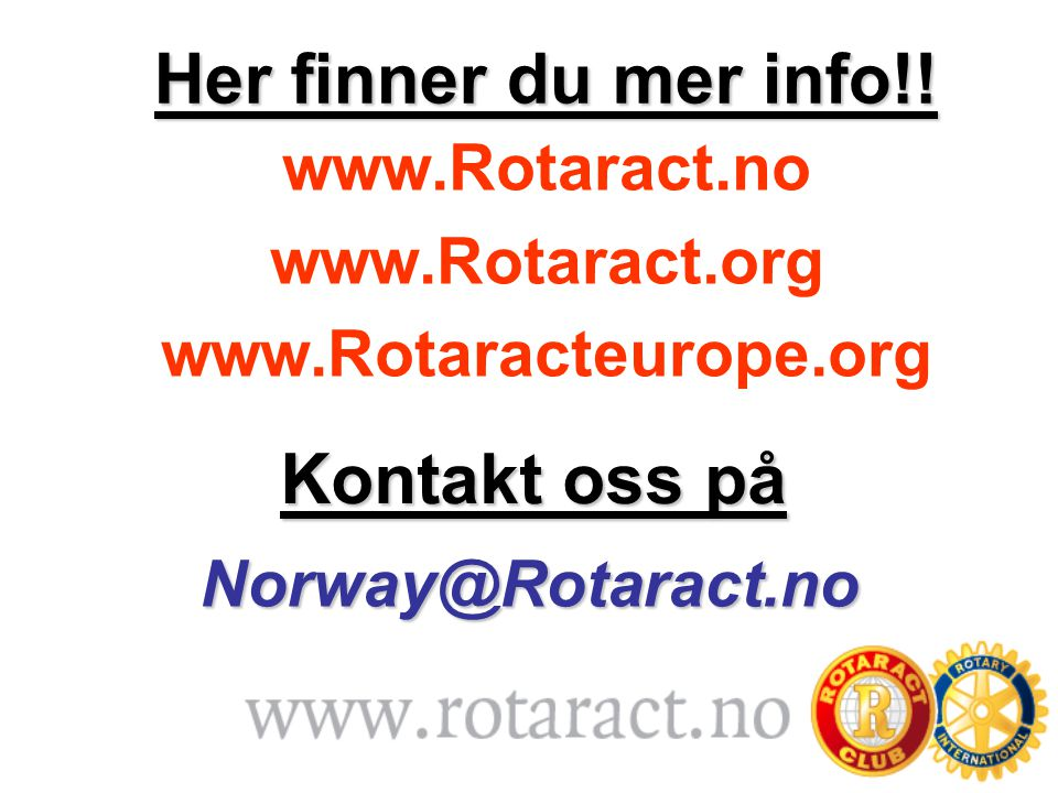 Her finner du mer info!! Kontakt oss på