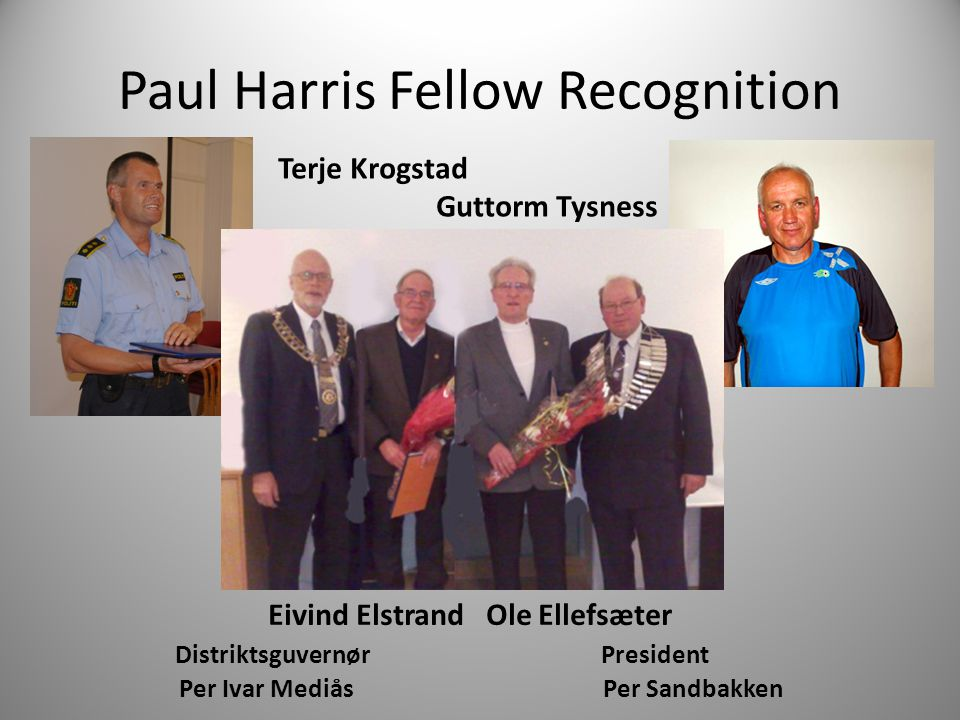 Paul Harris Fellow Recognition