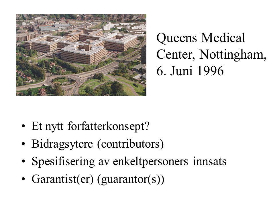 Queens Medical Center, Nottingham, 6. Juni 1996