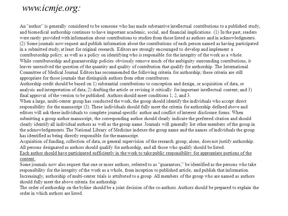 www.icmje.org: