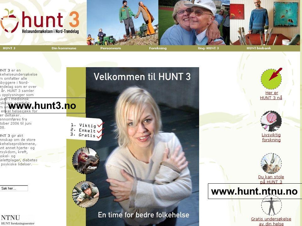 www.hunt3.no www.hunt.ntnu.no