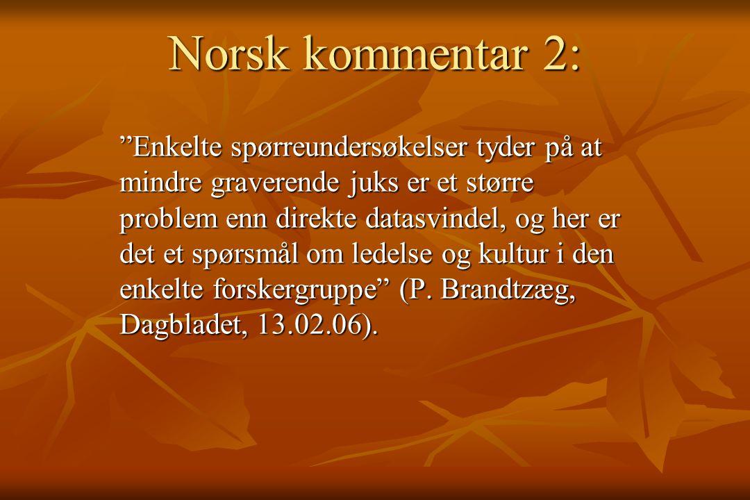 Norsk kommentar 2: