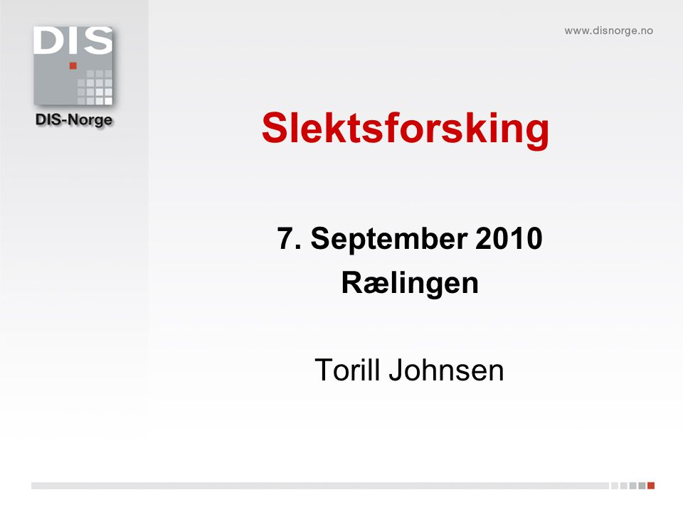 7. September 2010 Rælingen Torill Johnsen