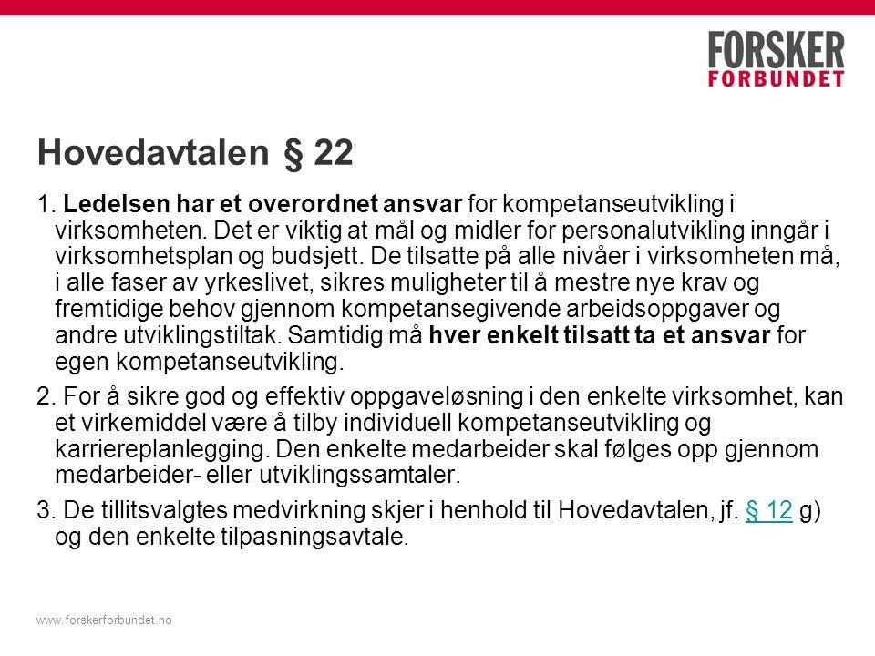 Hovedavtalen § 22