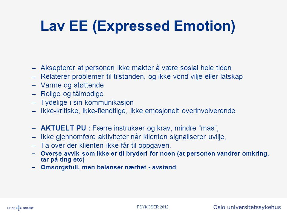 Lav EE (Expressed Emotion)