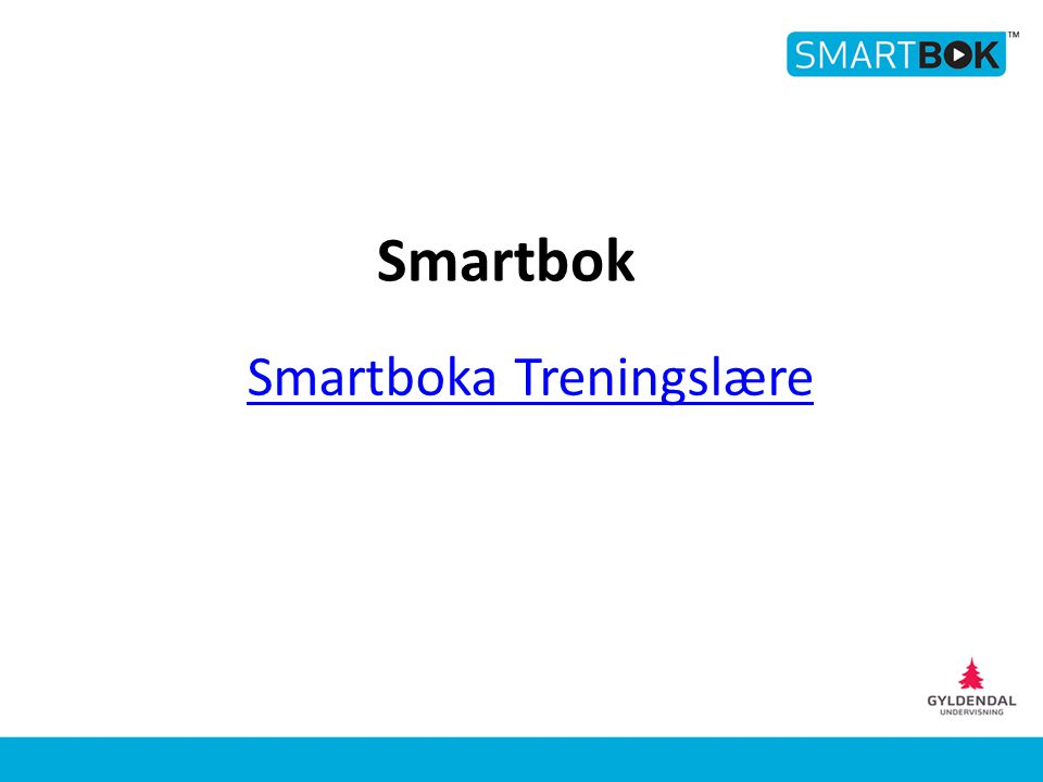 Smartboka Treningslære