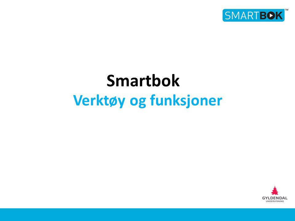 Verktøy og funksjoner Smartbok