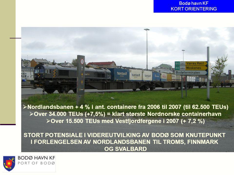 Over 34.000 TEUs (+7,5%) = klart største Nordnorske containerhavn