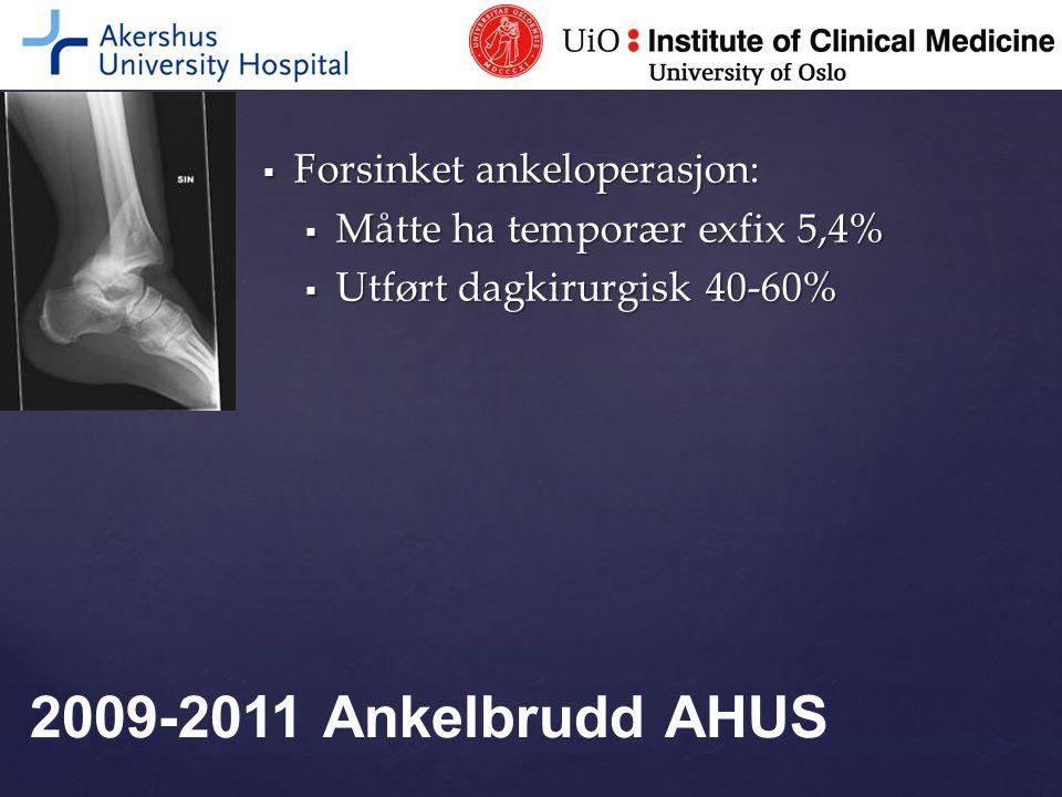 2009-2011 Ankelbrudd AHUS Forsinket ankeloperasjon:
