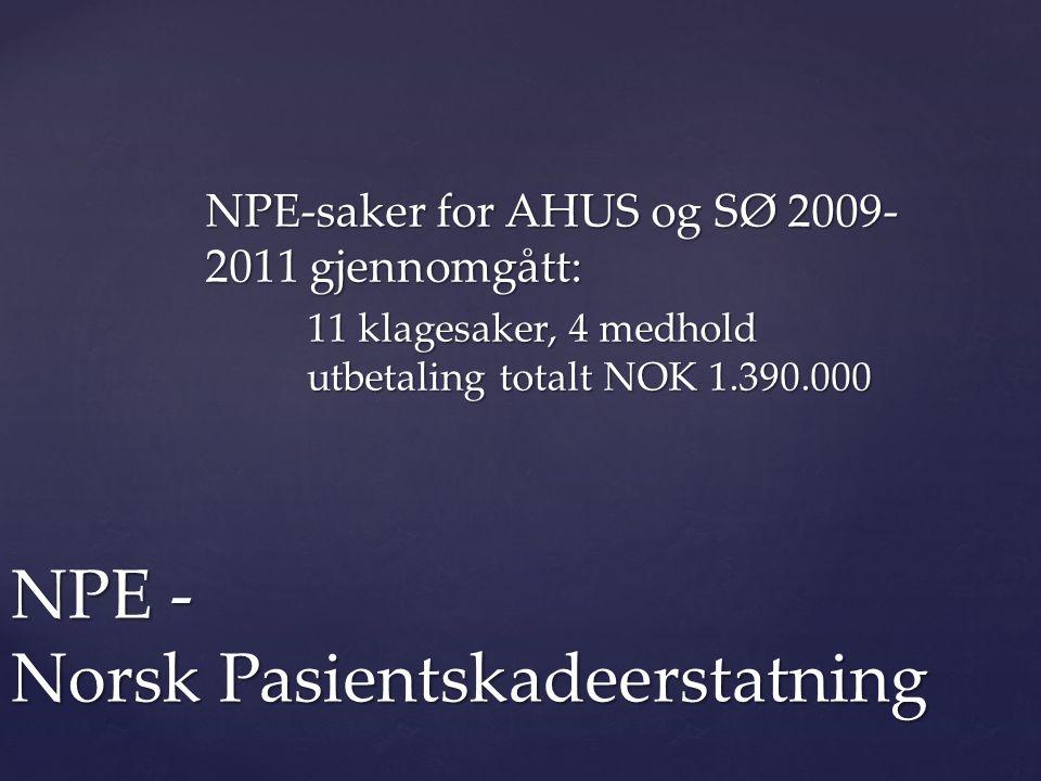 NPE - Norsk Pasientskadeerstatning