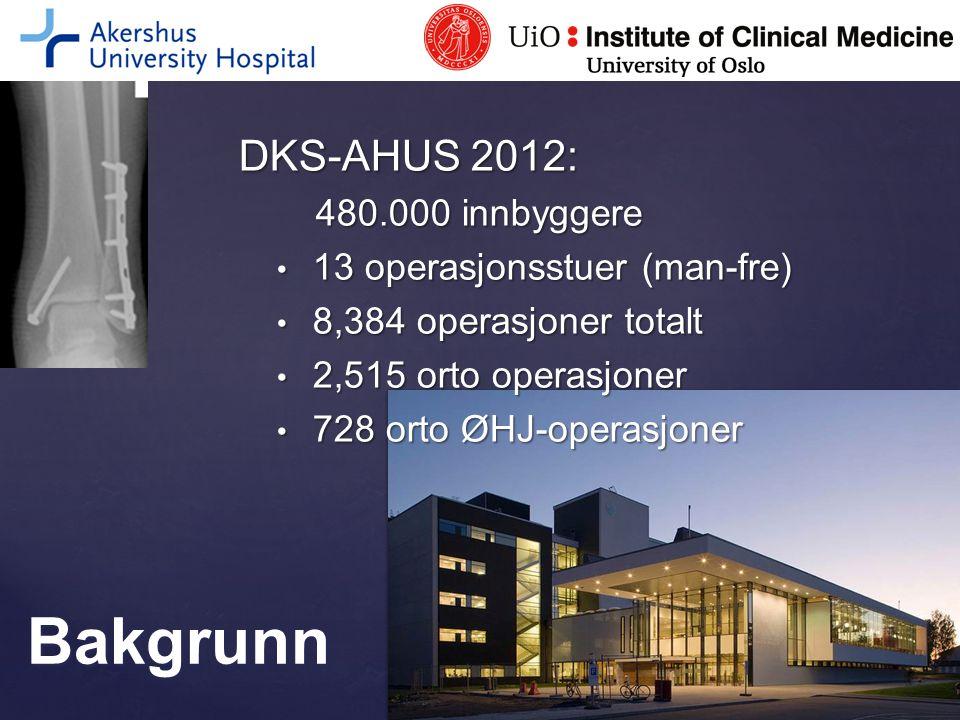 Bakgrunn DKS-AHUS 2012: 480.000 innbyggere