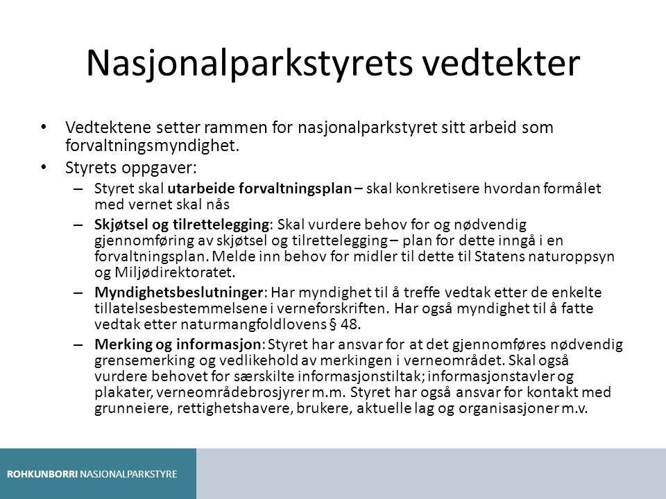 Nasjonalparkstyrets vedtekter