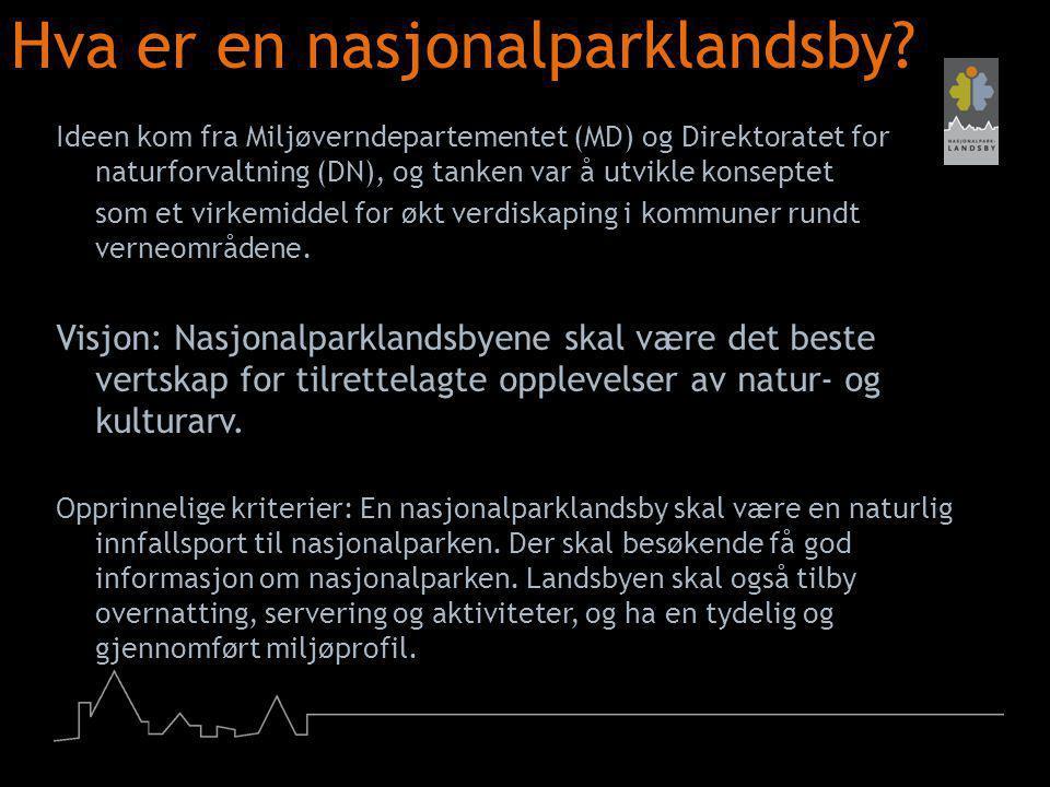 Hva er en nasjonalparklandsby