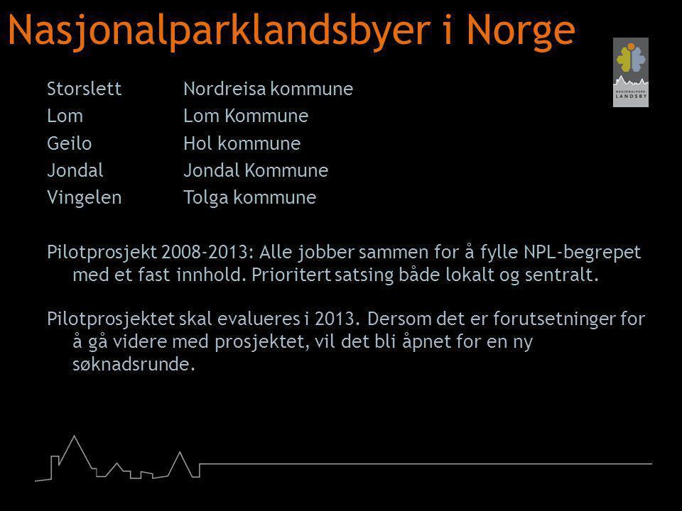 Nasjonalparklandsbyer i Norge