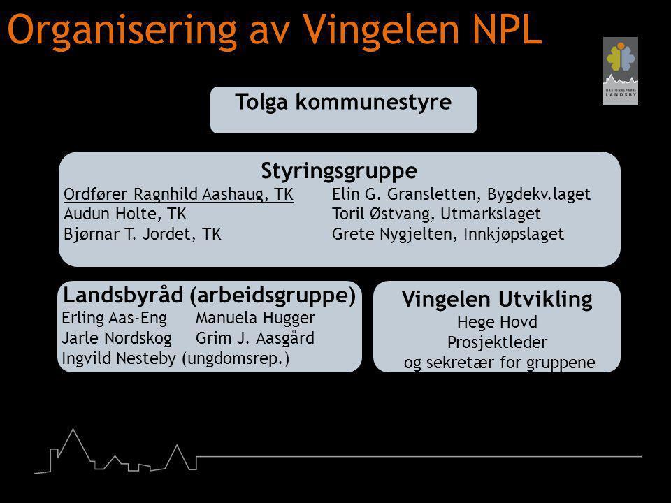 Organisering av Vingelen NPL